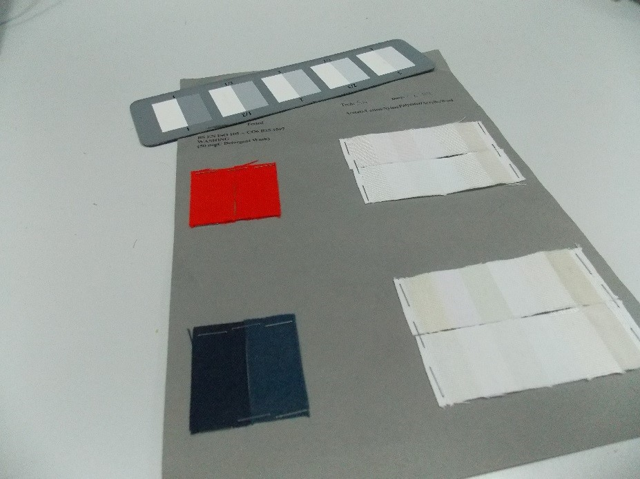 colour fastness testing with grey scale