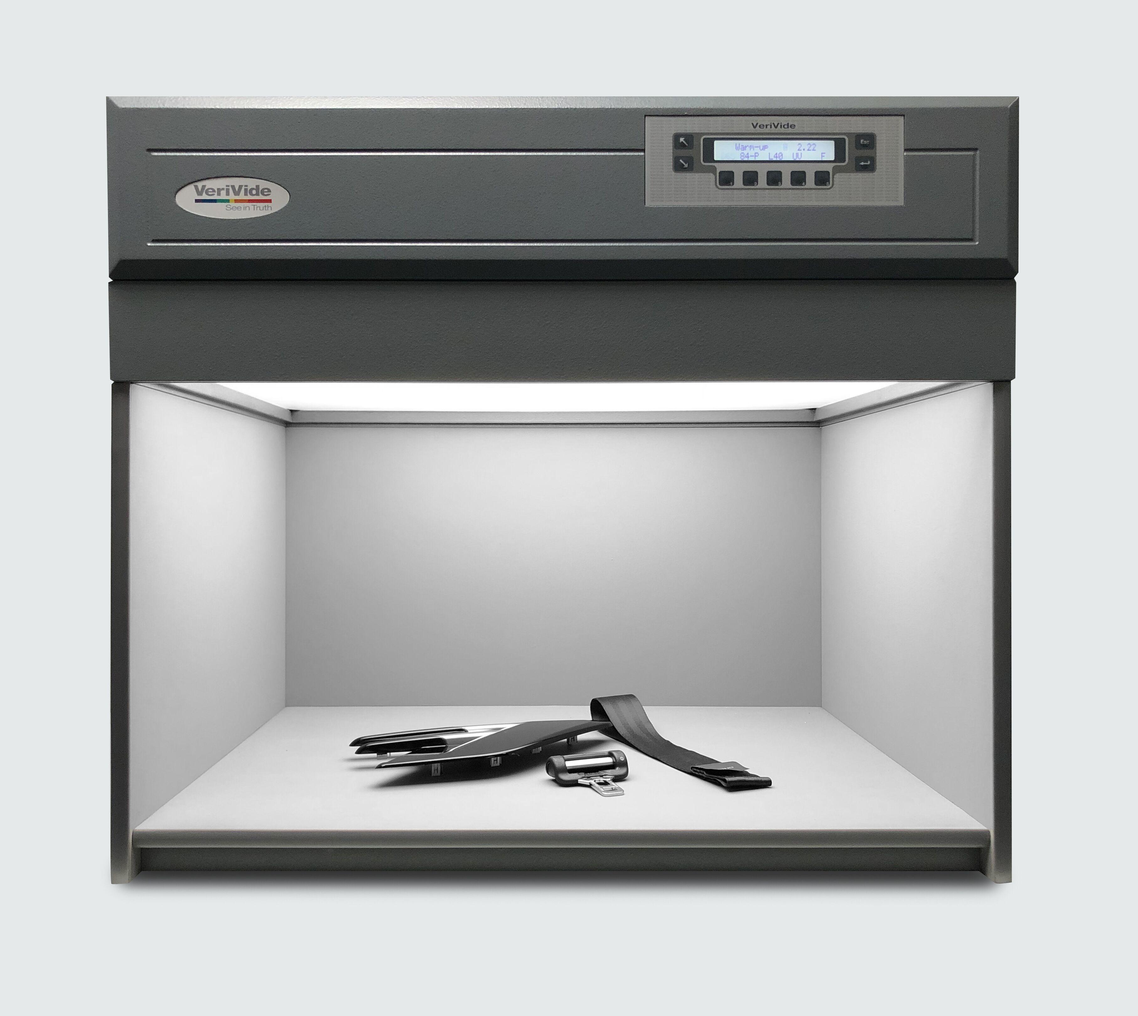 Automotive components under VeriVide's Colour Assessment Cabinet