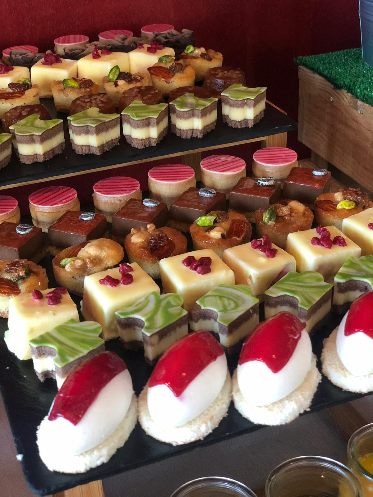 Beautiful desserts at the ITMA networking event