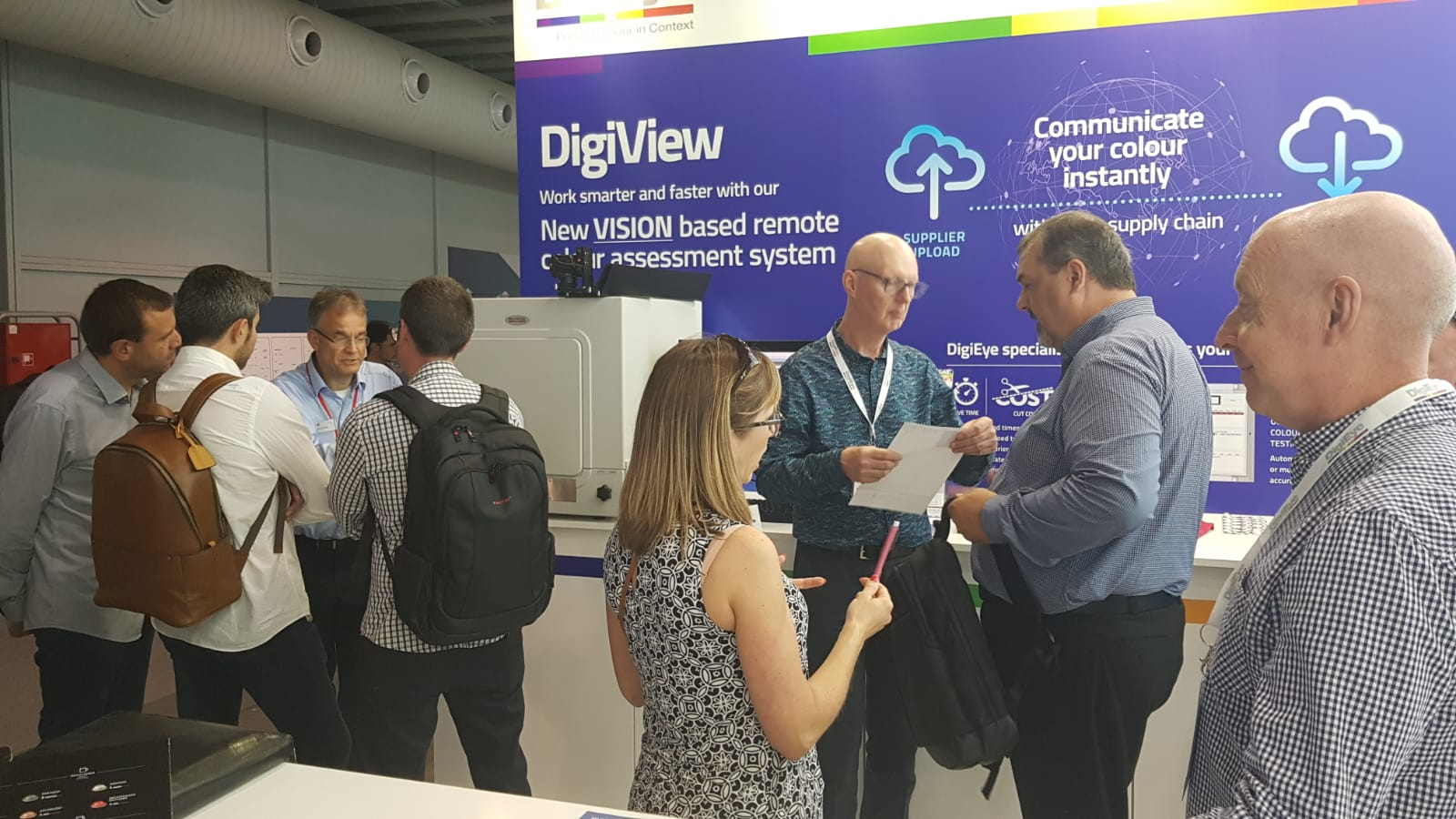 Many visitors interested in exploring uses of the DigiView system