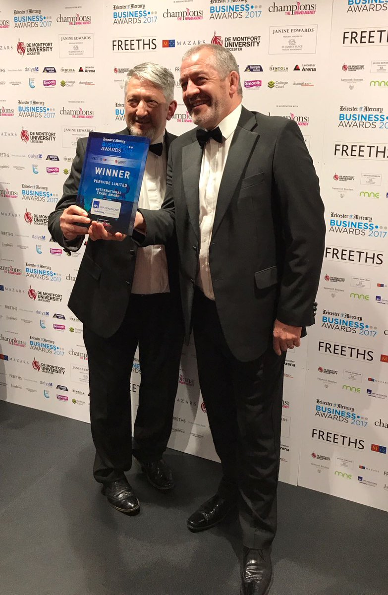 John and Paul with the international trade award