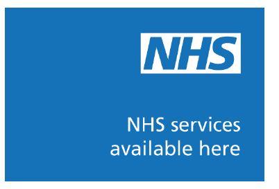 NHS branding colours, blue