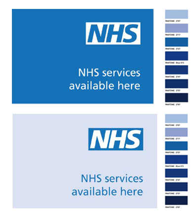 Which Pantone Colour is NHS Blue? - and other Branding issues