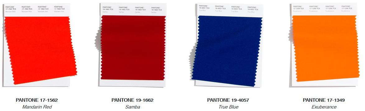 Pantone Top Trend vibrant Fashion Colours Autumn/ Winter 2020/2021