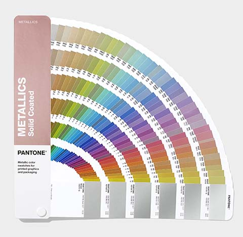 Pantone Metallics Guide with 655 Metallic colours for print and packaging