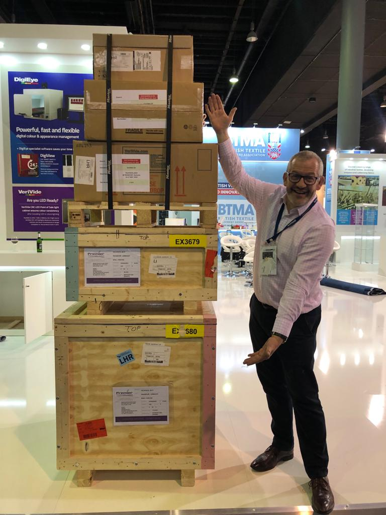 Our stand all boxed up and ready to fly home back to the UK