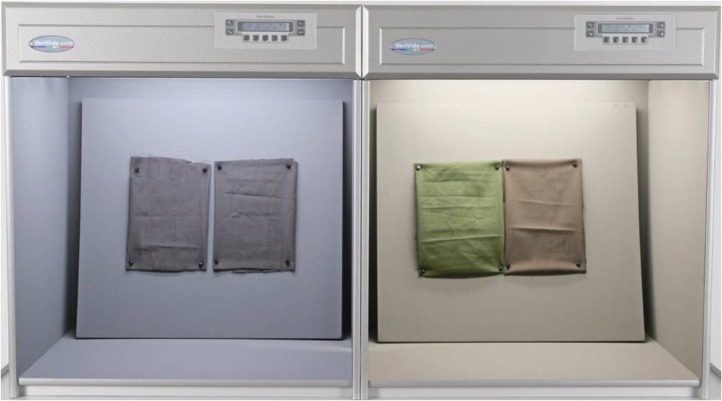 Colour assessment of samples under D65 & 840 illuminant in VeriVide's Light Cabinets