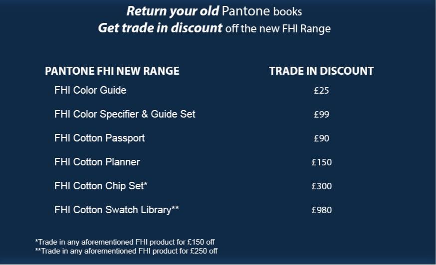 VeriVide Trade In offer Pantone