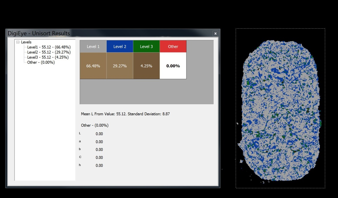 Appearance assessment in VeriVide's DigiEye system, the non-contact colour and appearance measurement equipment