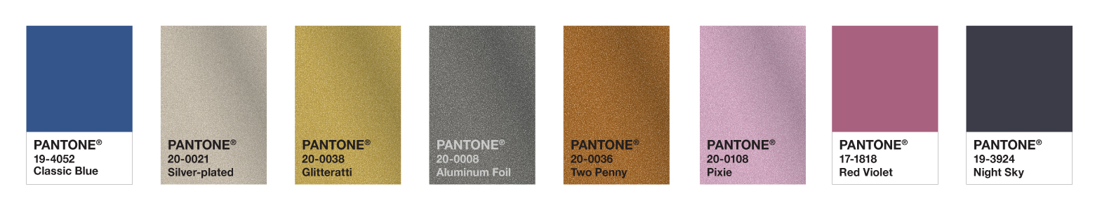 Pantone Colour Palette for Fashion and Accessories