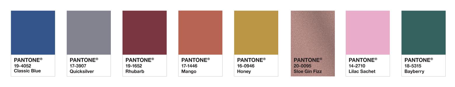 Pantone Colour Palette for Beauty Design