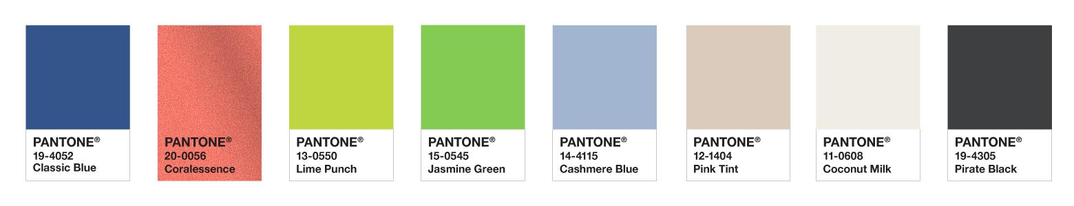 Pantone Colour Palette for web design