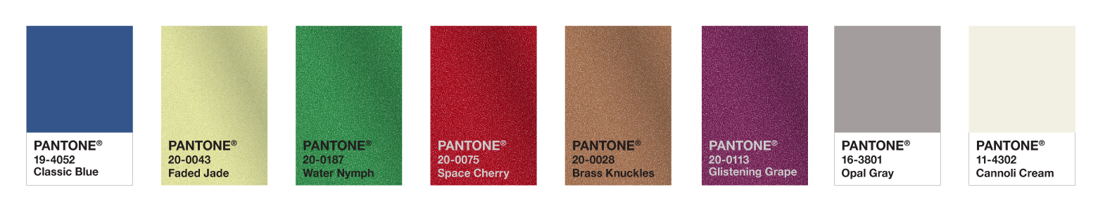 Pantone Colour Palette for Graphics, Packaging and hard goods