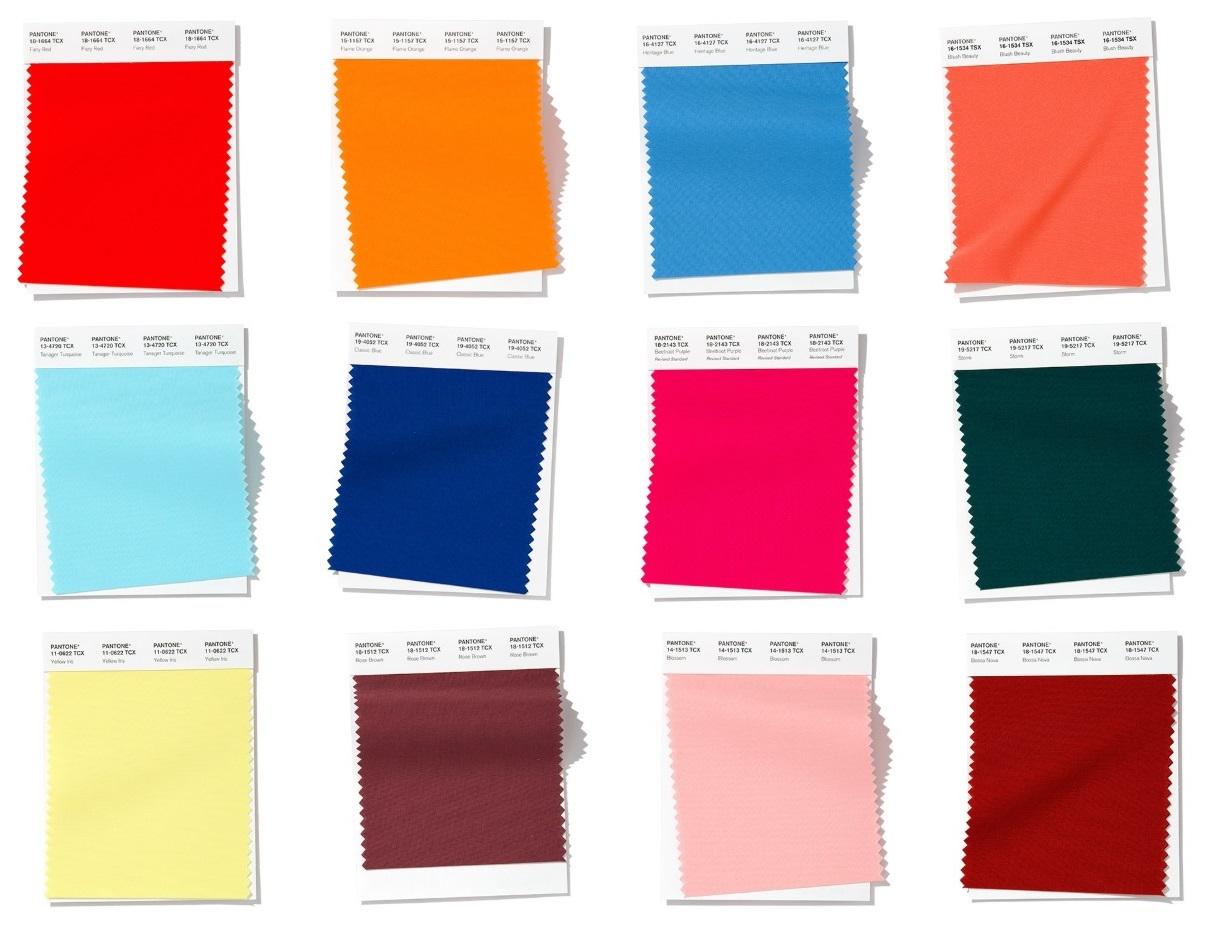 Pantone fashion colour palette of Spring/ Summer 2020