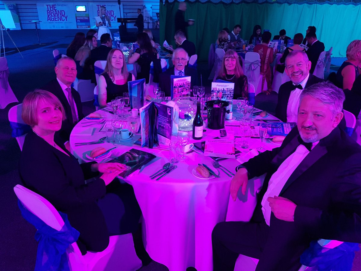 Team photo at the Leicester Mercury Business Awards