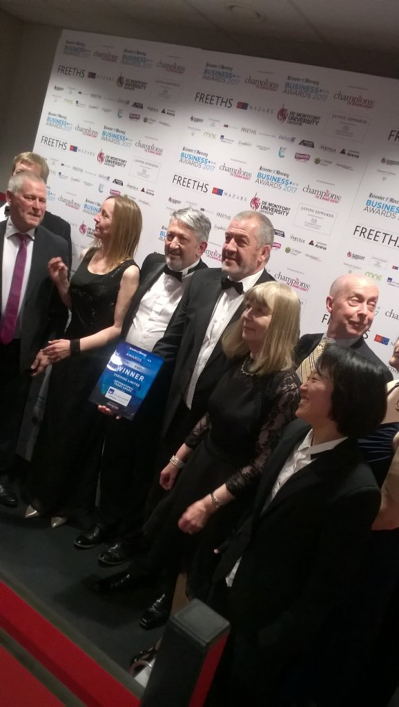 Verivide team photo at the Leicester Mercury Business Awards