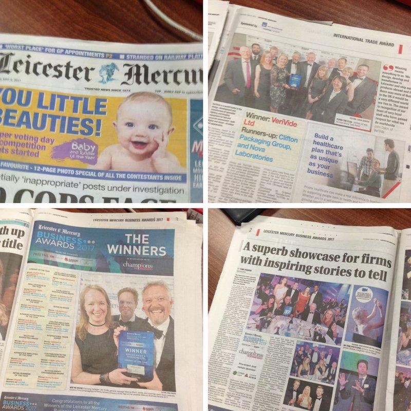 Verivide in Leister Mercury newspaper