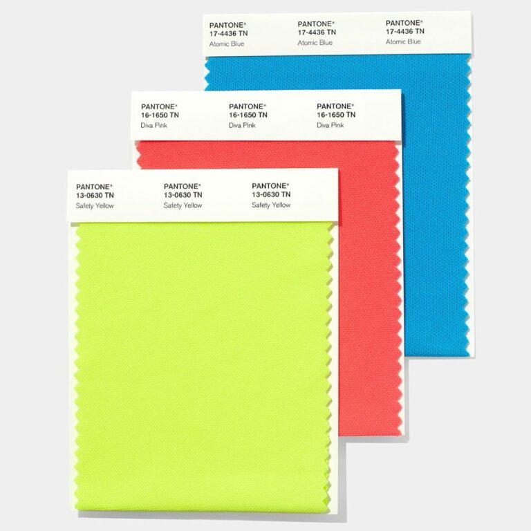 Nylon bright swatch colour selection