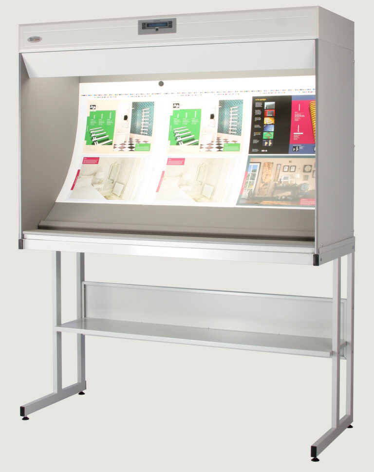 CCC Colour Correction Cabinet on table with print