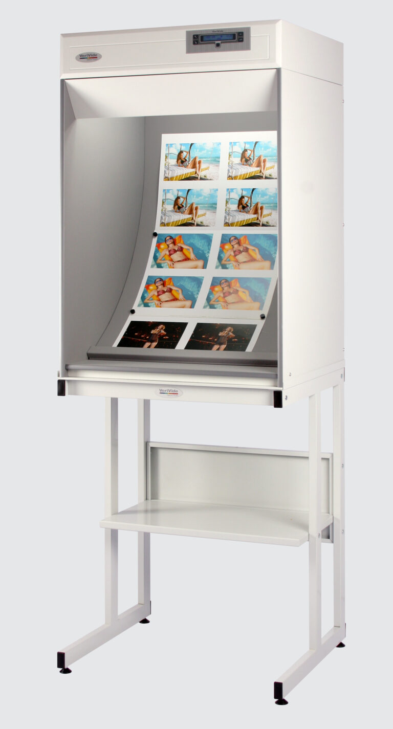 Colour Correction Cabinet on bench with print