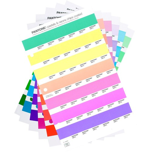pantone neon and pastel chips