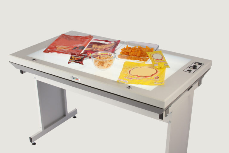 planning table with food packaging