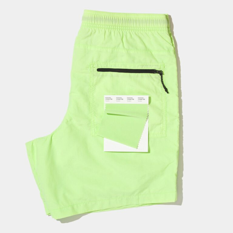 bright green shorts