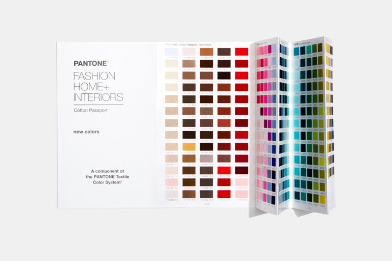 Pantone Cotton passport with pages open