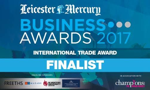 Finalist for the Leicester Mercury Business Awards 2017