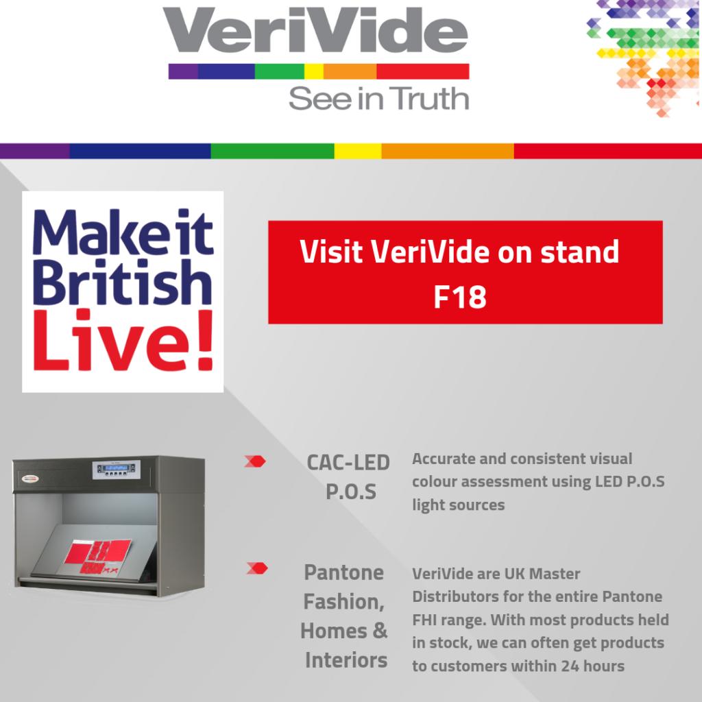 VeriVide back at Make It British Live! 2019