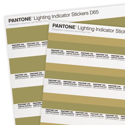 Pantone D50 Lighting Indicator Stickers Khaki and green