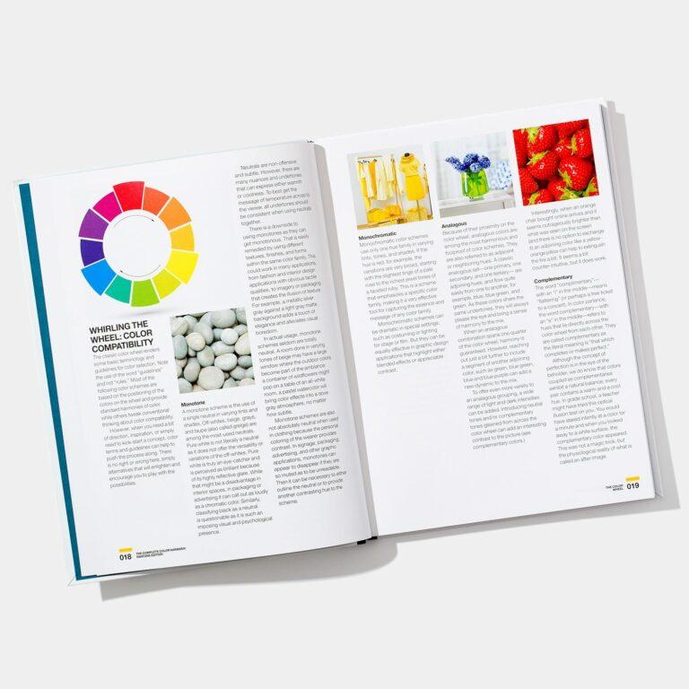colour wheel in book