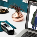 designs on laptop