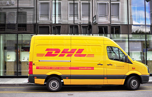 The yellow DHL van is made to precise RAL Colours
